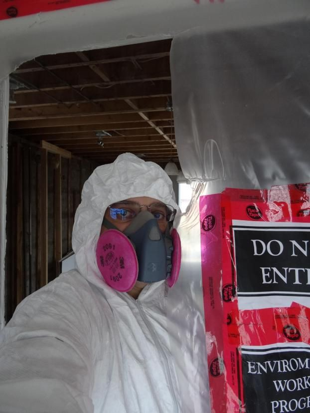 asbestos inspection inchbyinch inspector testing caution danger